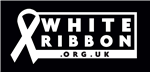 Image of white ribbon.org.uk logo