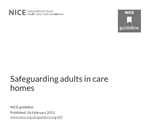 image of national institute for clinical excellence safeguarding in care homes guidelines