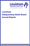 Image of Lewisham Safeguarding Adults Board Annual Report front page
